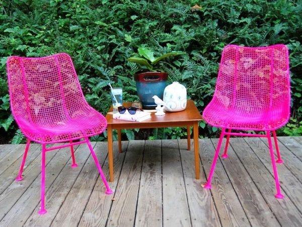 spray paint garden furniture