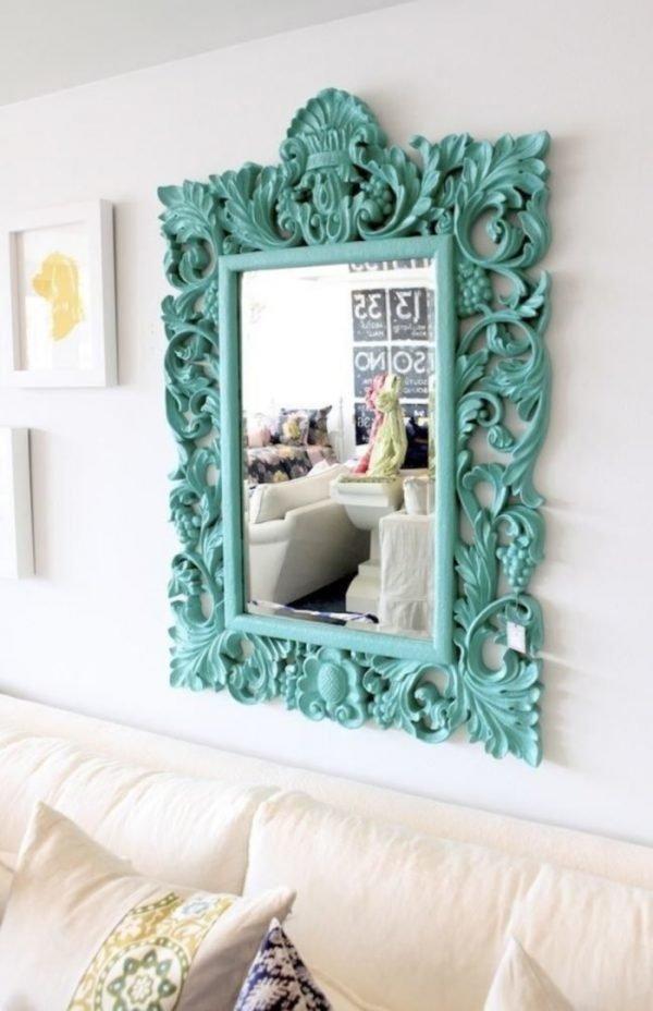 spray paint mirror frame