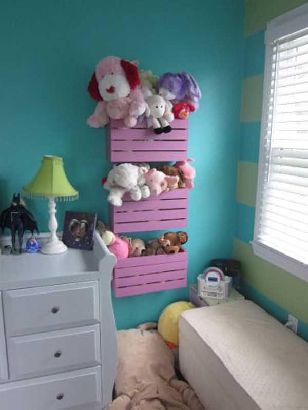 wooden toy storage bins