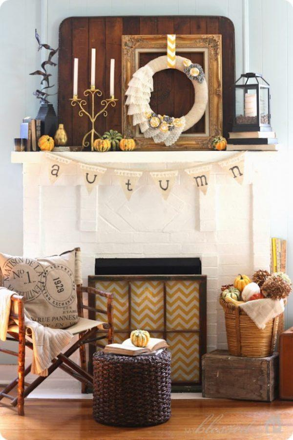 autumn mantel decorations