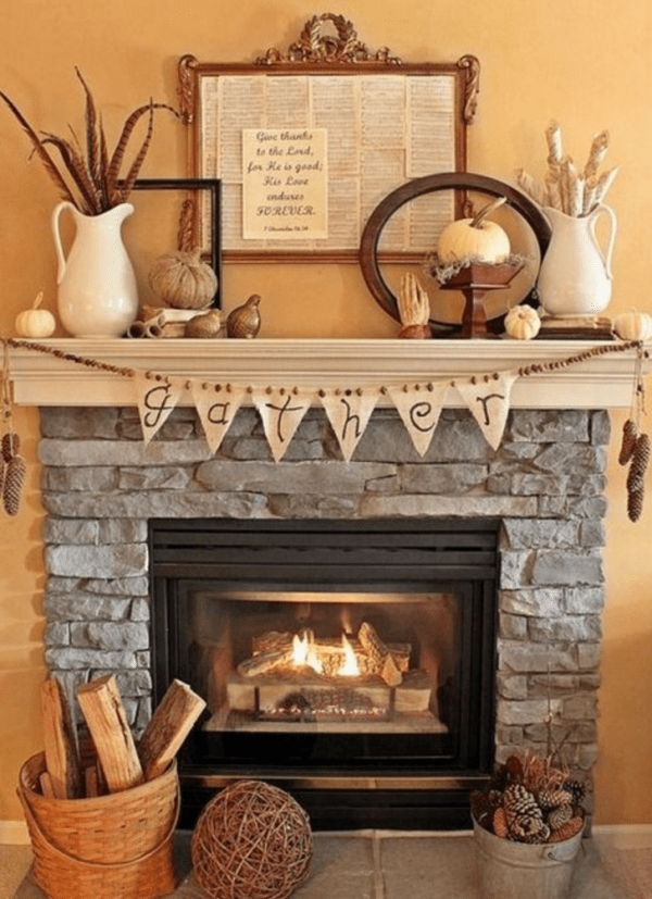 decorative accents for fireplace mantels