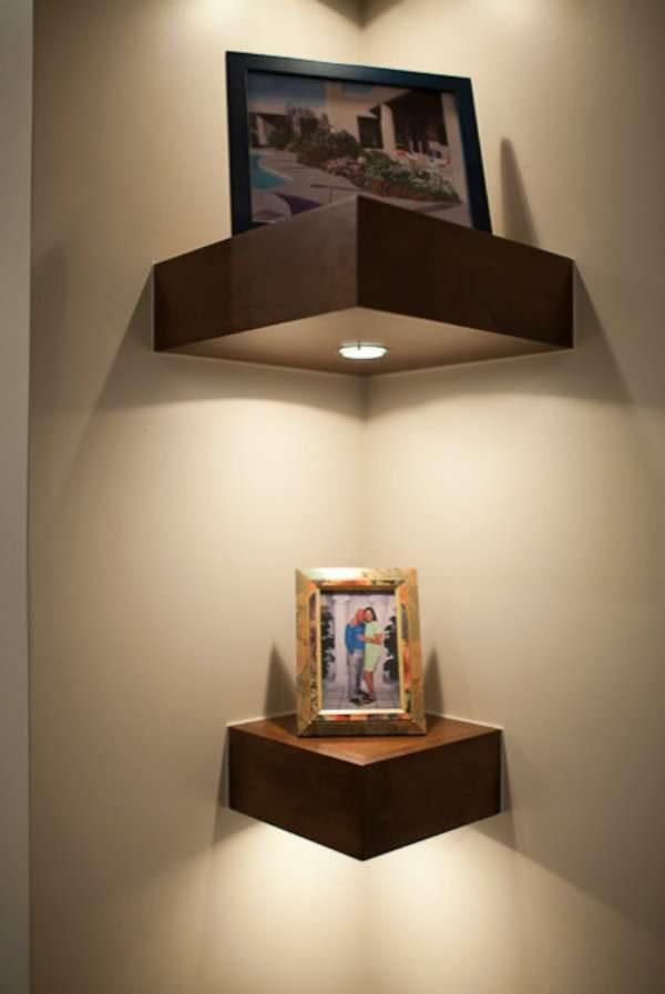 decorative corner shelves