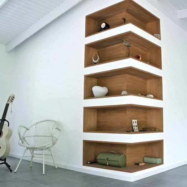 how to decorate a corner wall