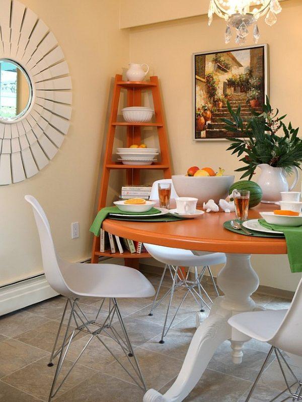 dining room corner decor