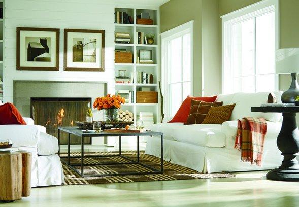 fall living room decor