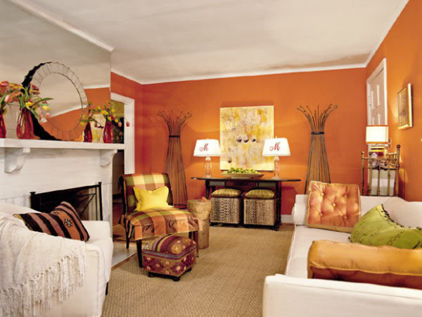 fall living room colors