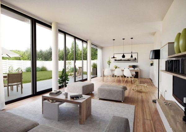 floor to ceiling windows that open