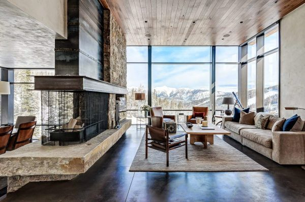 modern floor to ceiling windows