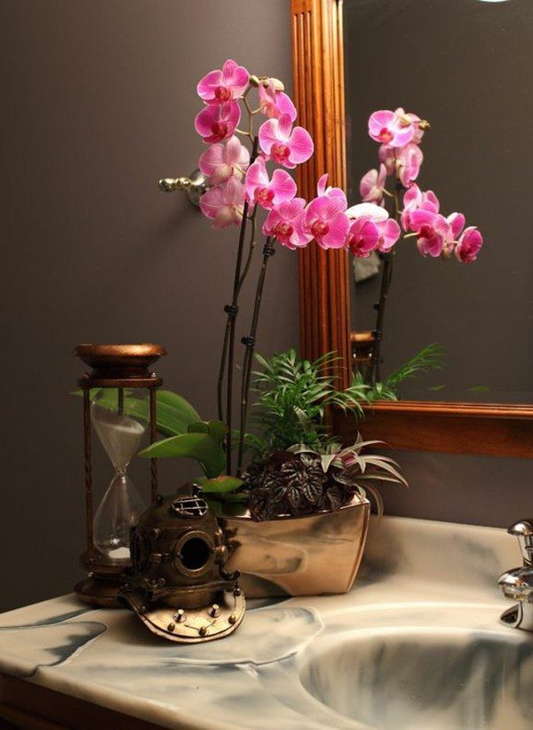 orchid bathroom