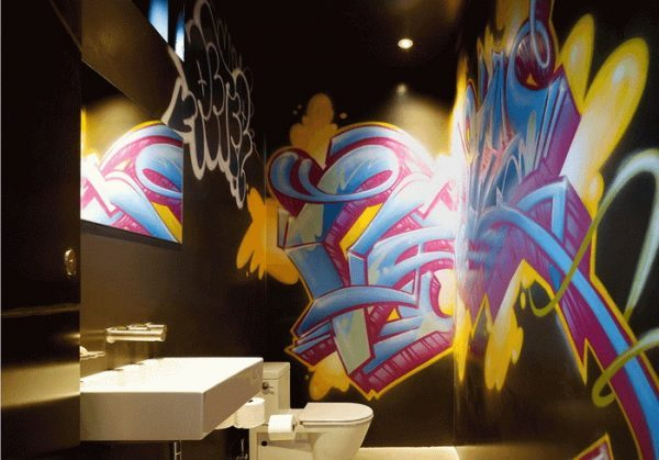 graffiti style wall art