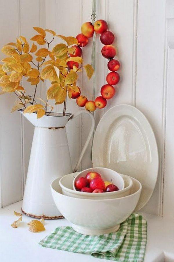Apple fall decor