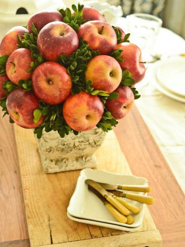 apple table centerpieces