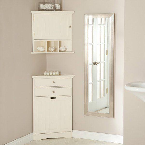corner storage cabinet for small bathroom