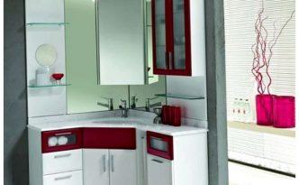 Small corner cabinet for bathroom