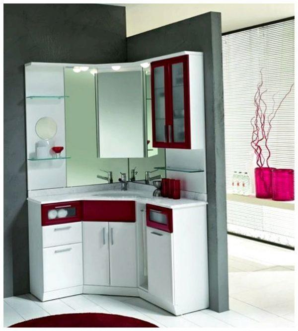 corner vanity mirror cabinet