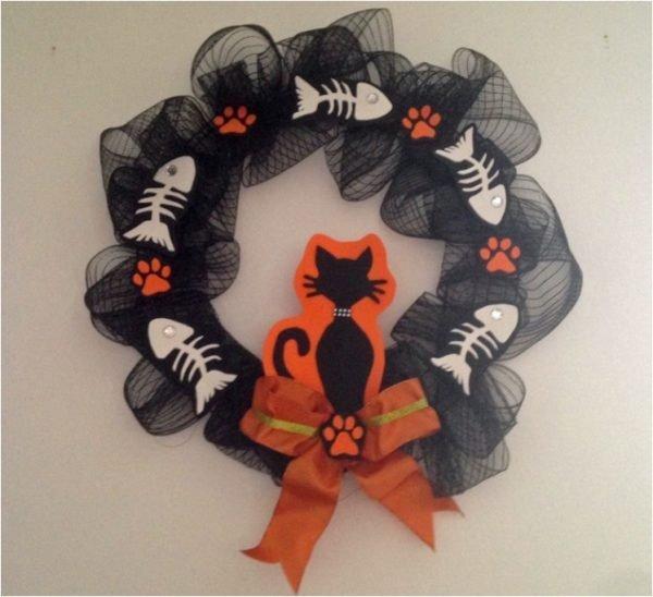 halloween deco wreaths