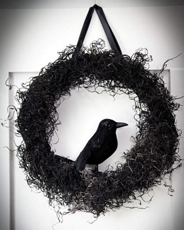 halloween black wreath