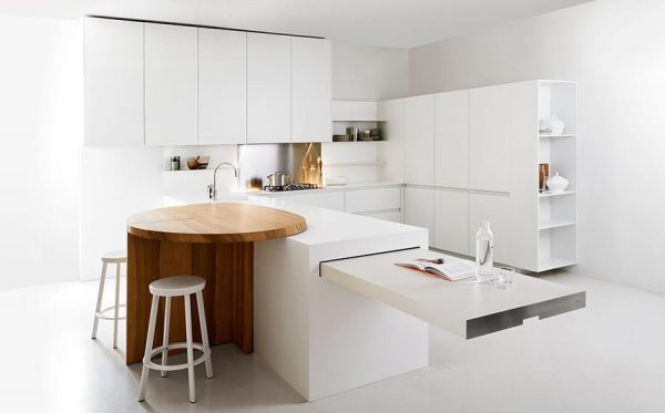 Stylish and practical - sliding table for kitchen