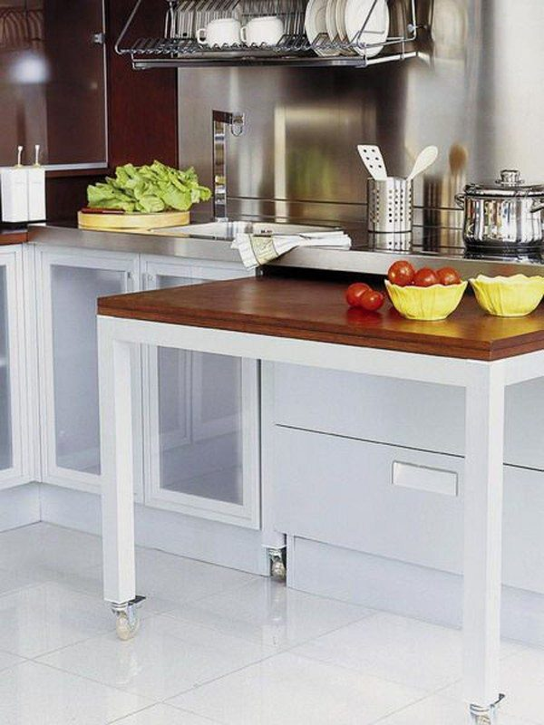 Stylish and practical sliding table for kitchen little for Table bar retractable