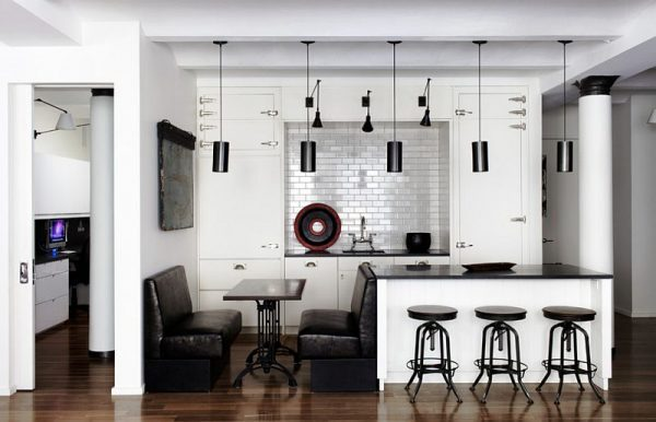 black kitchen pendant lights