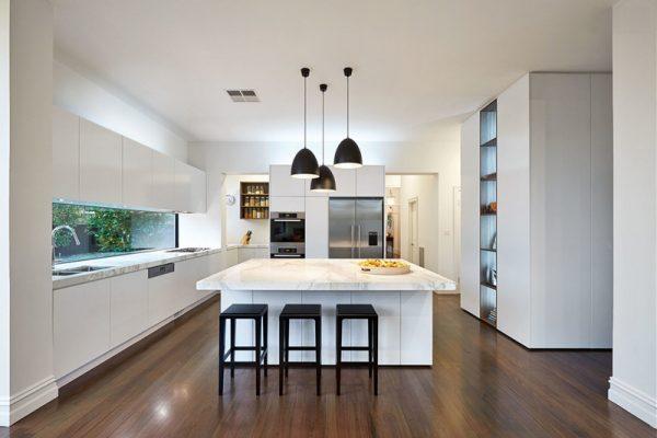 black pendant lights for kitchen island