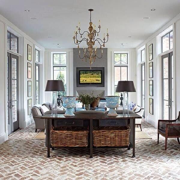 brick style flooring