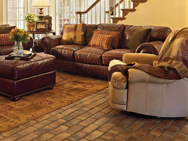 brick floors in house