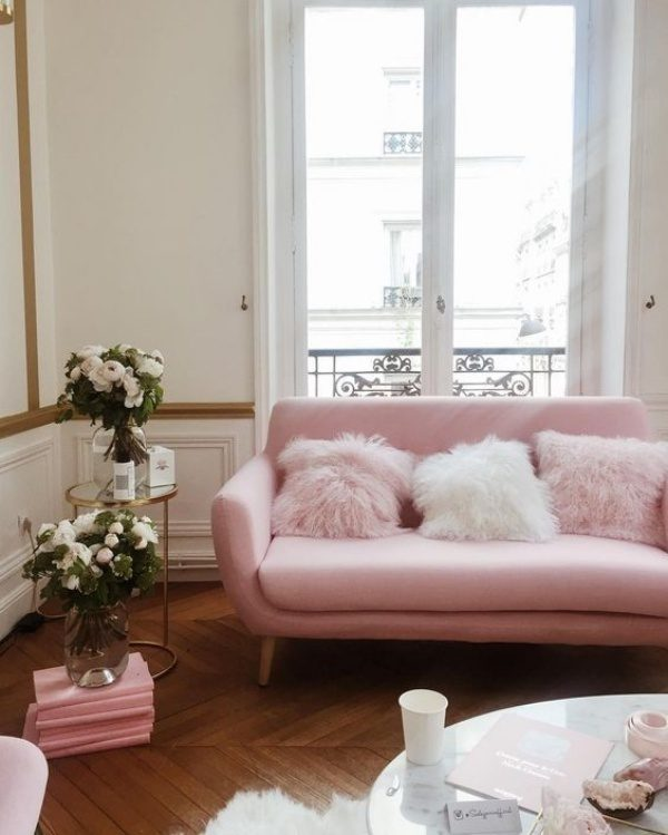 Image Credit Blush Pink Sofa