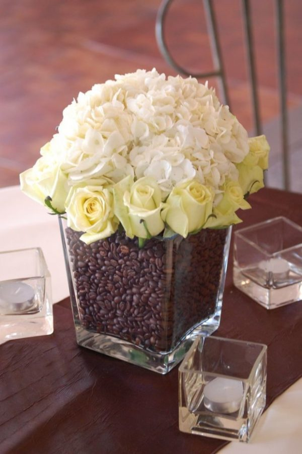 coffee bean flower arrangement