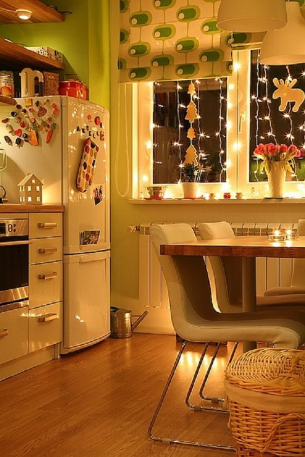 christmas kitchen window