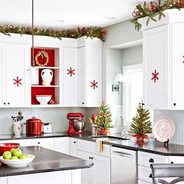 christmas decorations for kitchen cabinets