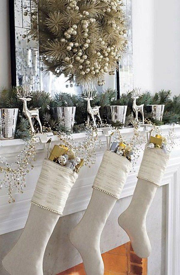 silver and gold christmas decoration