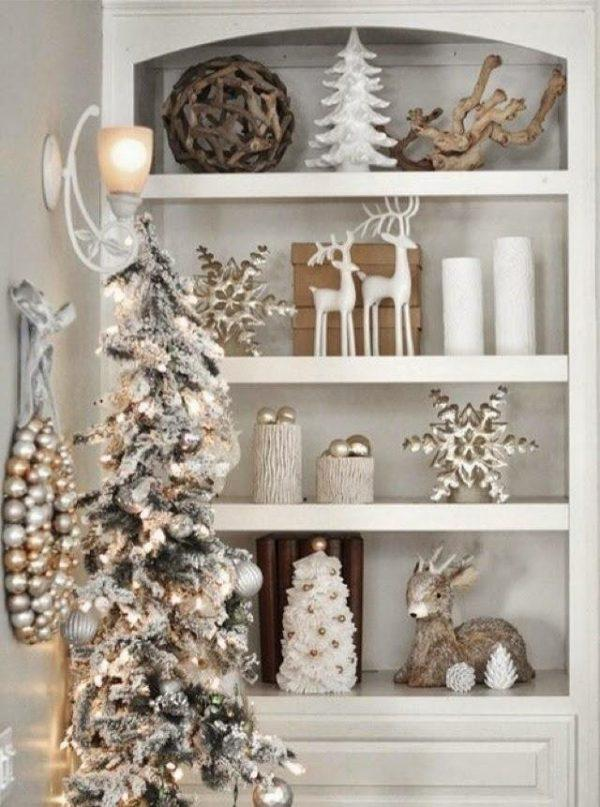 gold and silver holiday decor