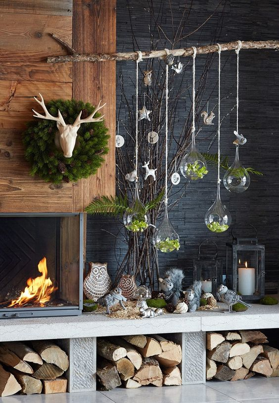 Indoor hanging christmas decorations