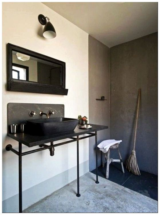 industrial modern bathroom vanity