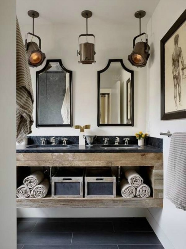 industrial vanity light