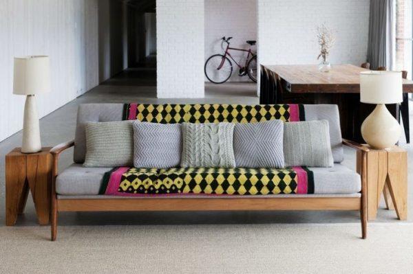 knit decorative pillows