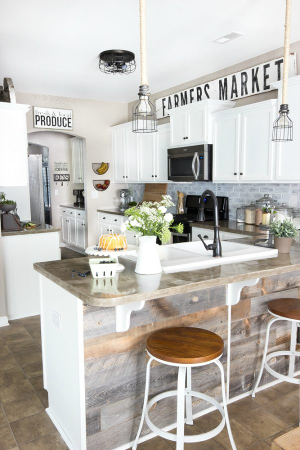 Decorating Above Kitchen Cabinets Farmhouse Rustic