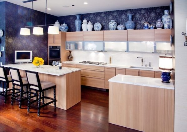 decorating ideas for above kitchen cabinets