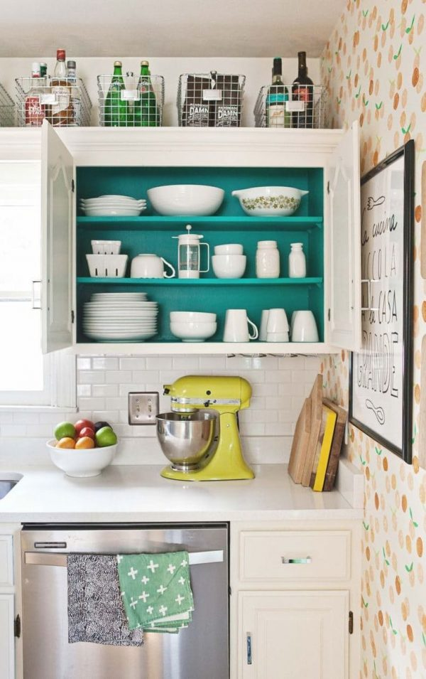 storage on top of kitchen cabinets