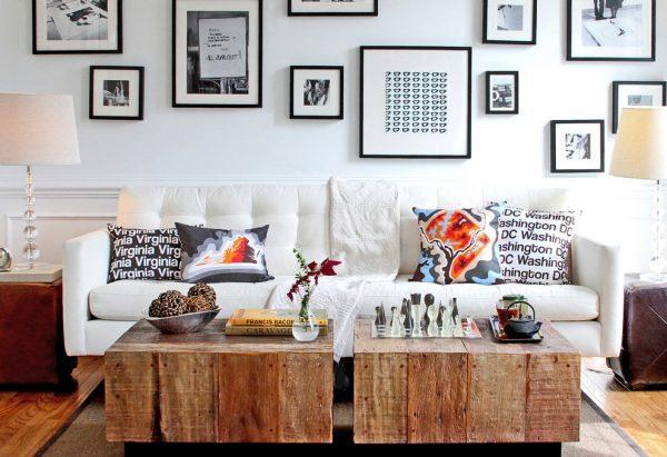 rustic wood accent tables