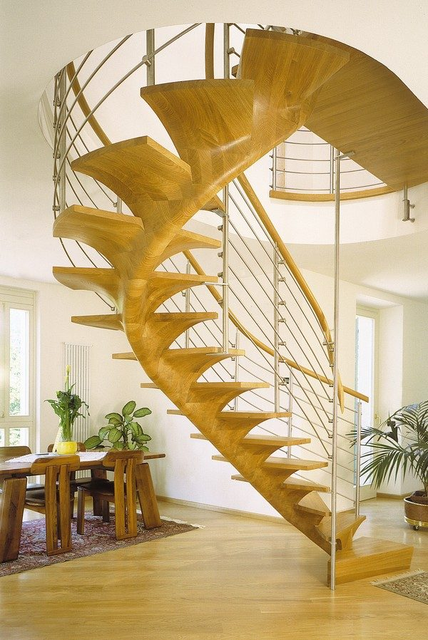 steel and wood staircase design