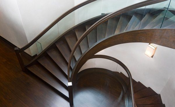 wood and glass staircase designs