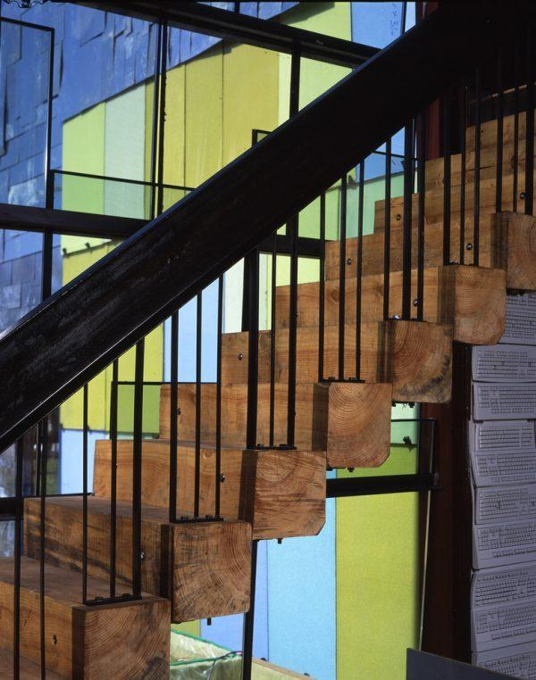 natural wood stairs