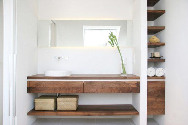 Wooden bathroom shelves - Little Piece Of Me