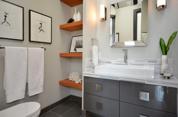 short bathroom shelf
