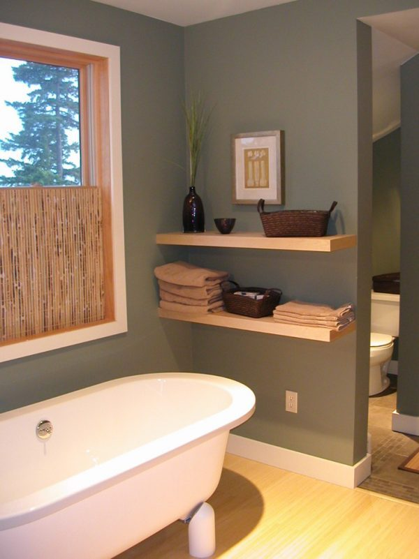 small bathroom wall shelf