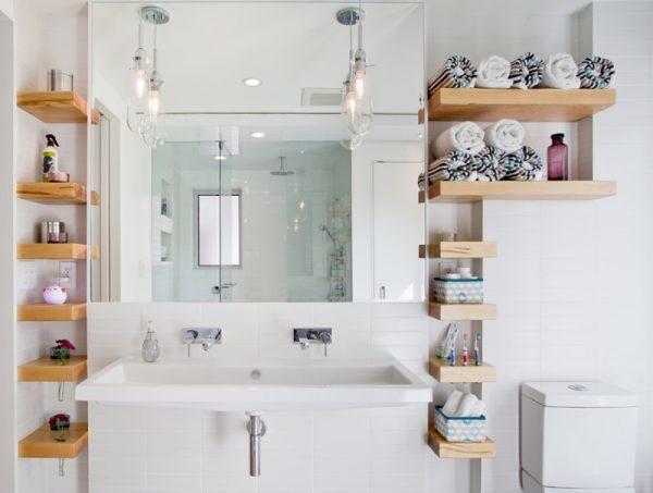 mini shelves for bathroom