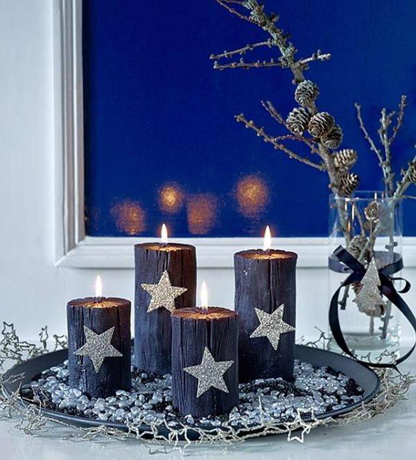 Decorative christmas tray