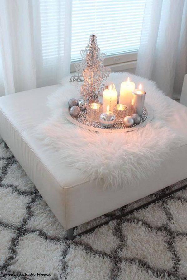 round christmas tray